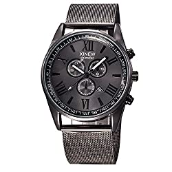 Men's Fashion Luxury Watch Stainless Steel Date Sport Analog Quartz Wristwatches