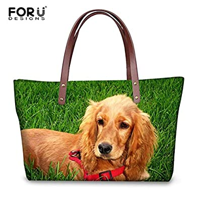 8d05e7aaef Amazon.com  FORUDESIGNS English Cocker Spaniel Women Handbag Fashion Ladies Large  Tote Bags Cute Animal Summer Beach Bag Casual Shoulder Bag Color HK225  ...