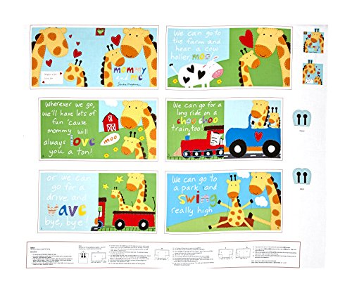 (StudioE Fabrics Huggable & Loveable Mommy and Me Soft Book 36in Panel Multi Fabric)