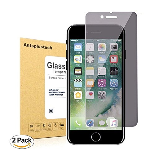 iPhone 7 Privacy Glass Screen Protector [2-Pack] Antsplust 9H Hardness Premium Privacy Anti-Spy [Bubble Free] for iPhone 7