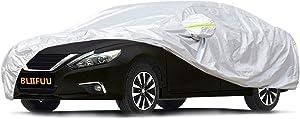 "Bliifuu Sedan Car Cover Waterproof/Windproof/Snowproof/Sun UV Protection for Outdoor Indoor, Breathable Full Car Cover Fit Sedan 197"" L x 70"" W x 59"" H"