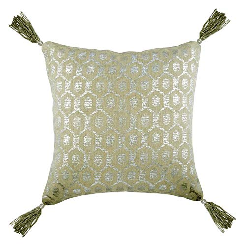 The HomeCentric Funda de Almohada Decorativa Beige Estampado ...