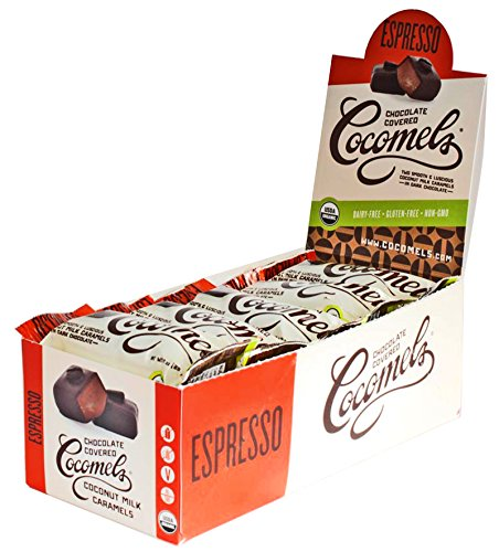 Chocolate-covered Cocomels - Coconut Milk Caramels - Organic, Kosher, NON-GMO, Vegan - Made Without Dairy (Espresso, 15 (Espresso Caramel)