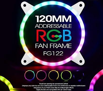 SilverStone SST-FG142 Grille de ventilateur de 140 mm avec bande LED RGB int/égr/ée et adressable