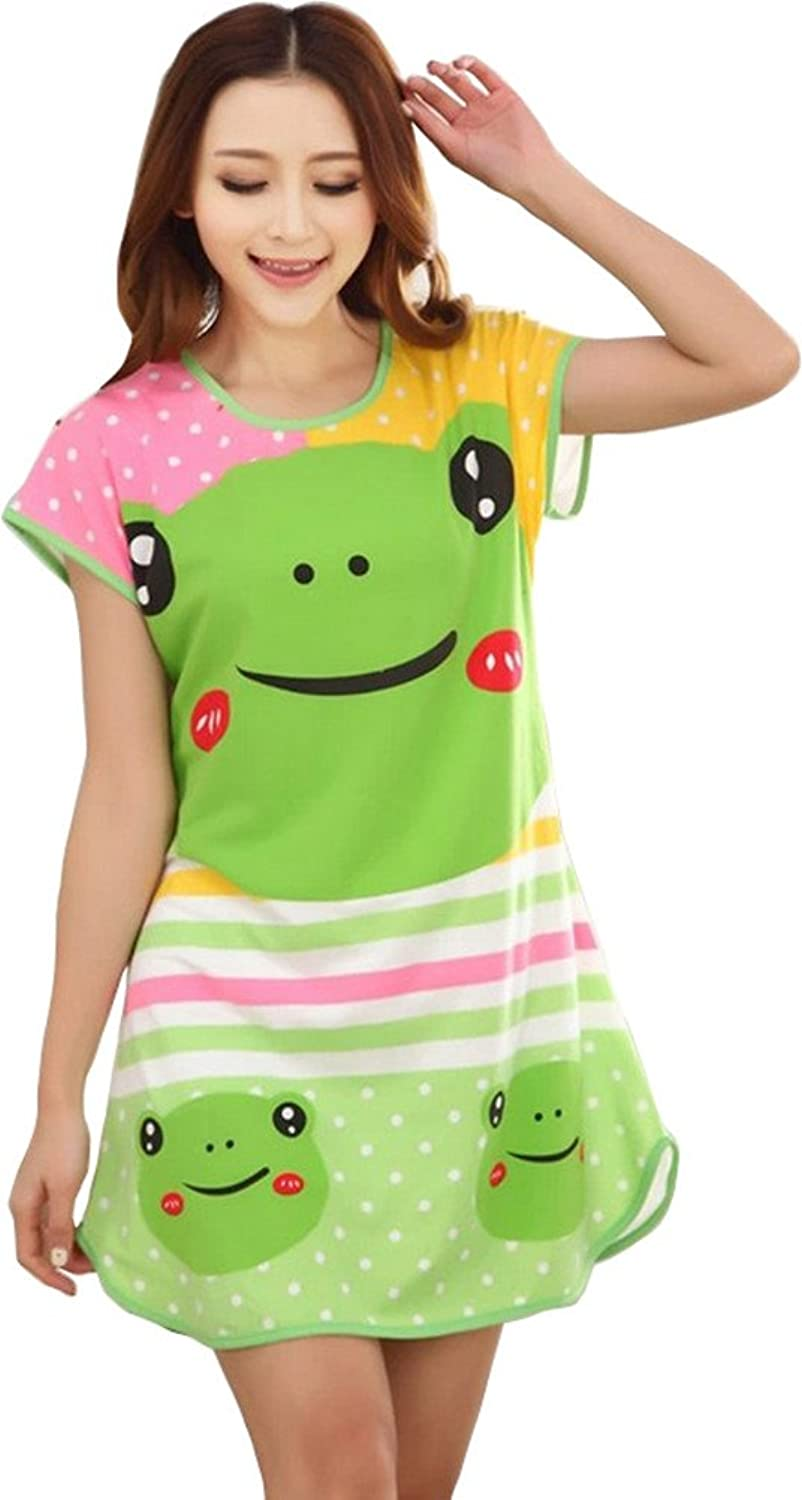 DD2 New Short Sleeve Lovely Cartoon Sexy Nightgown Women Sleepwear NO.05