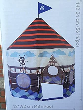 Pacific Play Tents Pirate Ship Pavilion Kids Tent Carry Bag Included & Amazon.com: Pacific Play Tents Pirate Ship Pavilion Kids Tent ...