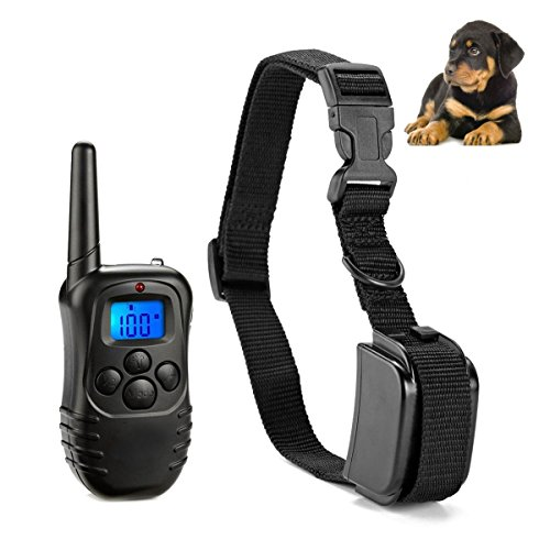 [Clearance sale] Dog Training Collar, Upgraded LED Backlight 330YD Remote Training Control Rechargeable and Rainproof Pet Dog Training Collar with Beep, Vibration and Shock Electronic Electric Collar