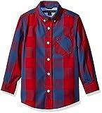 Tommy Hilfiger Little Boys Dorian Woven Long Sleeve Shirt, Apple Red, 5