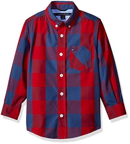 oys Dorian Woven Long Sleeve Shirt, Apple Red, Medium ()