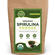 #1 Organic Spirulina Powder - Purest Superfood Powder 100% Certified for Quality, Safety, Maximum Nutrient Density, Vegan Protein & Anti-Aging / Energy Boosting Properties - USDA Certified