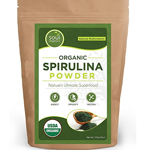 #1 Organic Spirulina Powder, Pure and Certified - Purest Source & Maximum Nutrient Density, Vegan Protein, USDA Certified, FREE Recipe eBook! ...