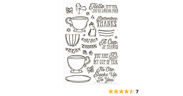 Clear Avery Elle Tea Time Stamp Set 4 by 6