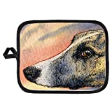CafePress - Brindle Whippet Greyhound Dog - Pot Holder, Heat Resistant, Fabric Trivet