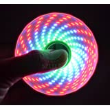 4 Seasons Touch activated Disco light design - 3 LED Fidget Spinner , I Love you Message Spinner, lots of changing designs (Assorted Colour)