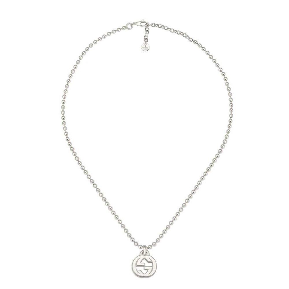 Gucci Women's 45cm Interlocking G Necklace Silver Necklace