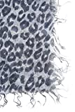 Chan Luu Cashmere and Silk Dip Dyed Scarf in Flint Stone Leopard Print