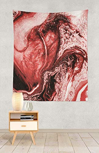LALILO Red Marble Decorative Tapestry, Red Marble wall art