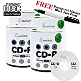 Smartbuy 400-disc 700mb/80min 52x CD-R Logo Top Blank Media Record Disc + Black Permanent Marker