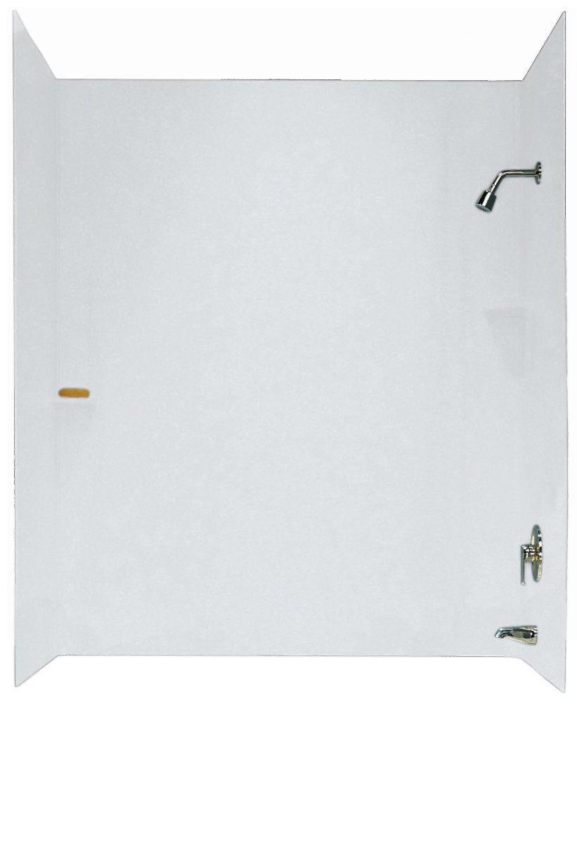 Swanstone SS-60-3-010 Three Panel Tub Wall Kit, White Finish ...
