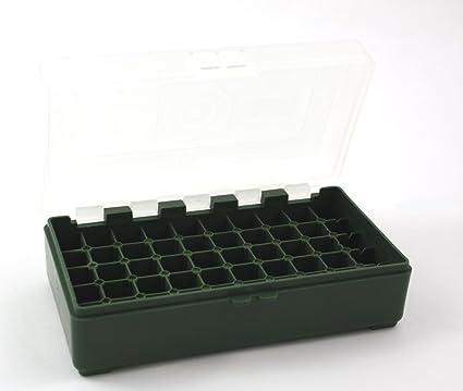 Patronenbox Munitionsbox mit Klappdeckel für Kaliber .44 Mag .44 Sp 50 Stück