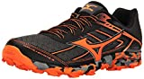 Mizuno Men's Wave Hayate 3 Trail Runner, Dark Shadow/Clownfish, 8 D US