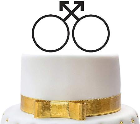 Anniversari Di Matrimonio E Simboli.Decorazioni Per Torta Nuziale Con Simboli Maschili Per Coppie Di