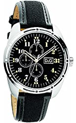 D&G Dolce & Gabbana Bariloche Multifunction Black Dial Men's watch #DW0640