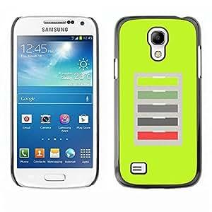 Be Good Phone Accessory // Dura Cáscara cubierta Protectora Caso Carcasa Funda de Protección para Samsung Galaxy S4 Mini i9190 MINI VERSION! // Green Office Abstract Pattern