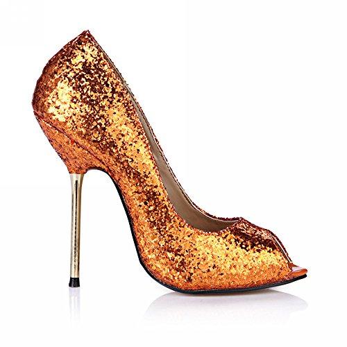 rouge bleu haut pointe poisson Orange nocturne de chaussures talon Slice Bright La vie chaussures à le 40Tw118q