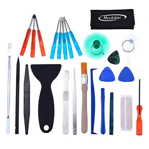 Mudder 28 in 1 Universal Screen Removal Opening Repair Tool Kit Pry Tools Kit and Screwdriver Set for iPhone, Motorola, Sony, Samsung, LG, iPad, Tablets and Laptop (Lg 2 Repair Screen Kit compare prices)