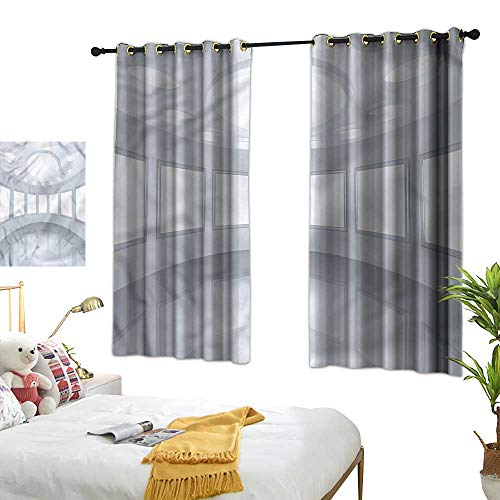 Thermal Insulating Blackout Curtain Modern Durable Picture Gallery 3D 55