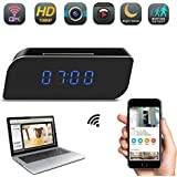 YCTONG WIFI Spy Camera Clock Hidden Camera HD 1080P Mini Wireless Nanny Cam Motion Detection Alarm Night Vision Remote View Surveillance Camcorder for Home Security Office