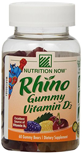 Rhino Gummy Vitamin - Nutrition Now Rhino Gummy Vitamin D3, 60 Count