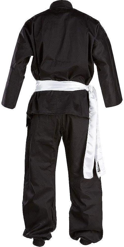 7//200 cm Blitz Kung Fu Color Negro y Blanco Traje de Kung-fu