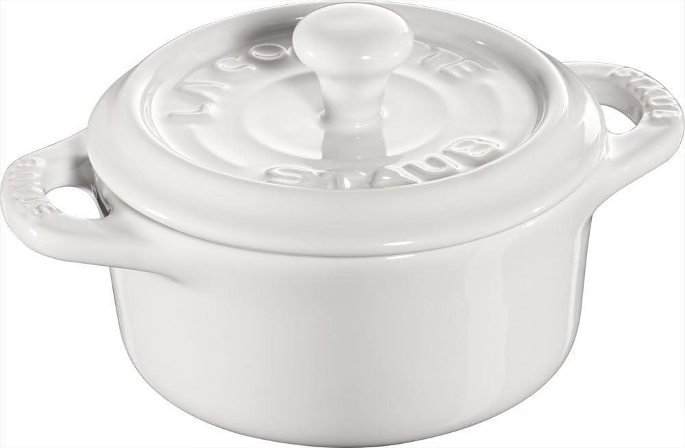 Staub Keramik 6 er Set Mini Cocotte rund kirsche 10 cm Ceramic emaillierter Ober