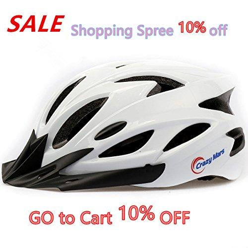 Ultralight Stable Road/Mountain Mens/Womens Bike Helmet-whit