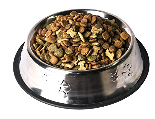Gpet-Stainless-Steel-Paw-Design-Dog-Bowl-with-Rubber-Base-Set-of-2-32-Ounce