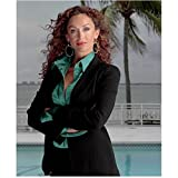 CSI: Miami Sofia Milos as Yelina Salas in black suit in front of pool arms croosed 8 x 10 Inch Photo