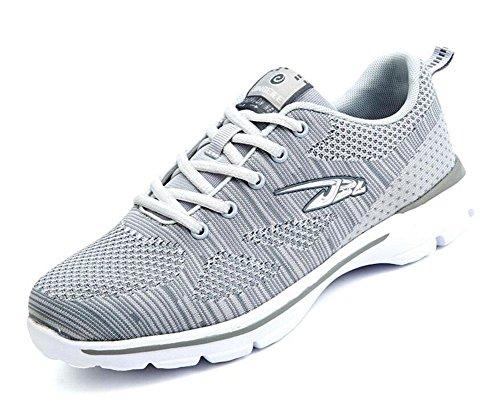SHIXR Hommes Printemps Nouveaux modèles de couple Chaussures de sport en plein air Loisirs Voyage Chaussures de course Chaussures de basket-ball , grey , 42
