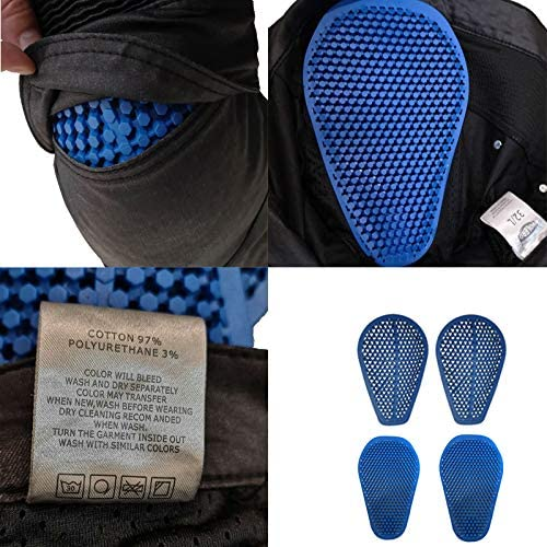34 =Waist 36 XL Coated Waterproof Motorcycle Riding Pants With 4 X Silica Gel Armor Knee Hip Pads