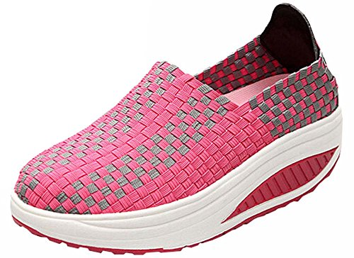 Sneakers Red Wedges Sneakers Shoes Rose Summer Running Swing Fashion Shoes Women for Sport Women's 46AqqEwR