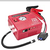 jfegwo Car Jump Starter with Air Compressor, 700 Peak 120 PSI 18000 Capacity Li-on Power Battery Jump Pack, Double USB Ports and Double LED Flashlight and Smart Jump Cable by JF.EGWO