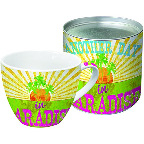 Palm Tree Porcelain (Paperproducts Designs 18-Ounce Mug in Gift Box, X-Large, Paradise)
