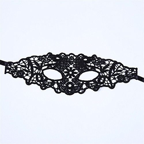 Mardi Gras Party Masquerade Mask,Halloween Party Black and White lace mask Sexy Night Club KTV Fun Half face Goggles Infinitive face mask Female Black Prom Masks -
