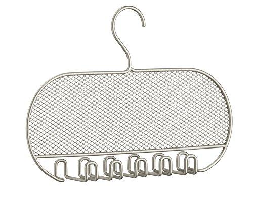 InterDesign Classico Jewelry Necklaces Bracelets Earrings Closet Organizer Hanger, Satin
