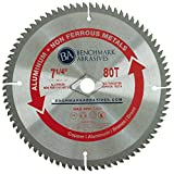 7-1/4'' x 5/8'' DIA 80 Teeth TCT Saw Blade for Aluminum & Non-Ferrous Metals