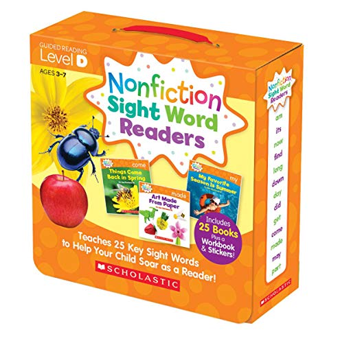 Nonfiction Sight Word Readers Parent Pack Level D: Teaches 25 key Sight Words to Help Your Child Soar as a Reader! (Words That Start With Short U Vowel Sound)