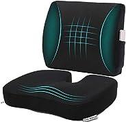 Cojín de espuma viscoelástica para asiento de coche y almohada de apoyo lumbar de malla 3D, cojín ortopédico d