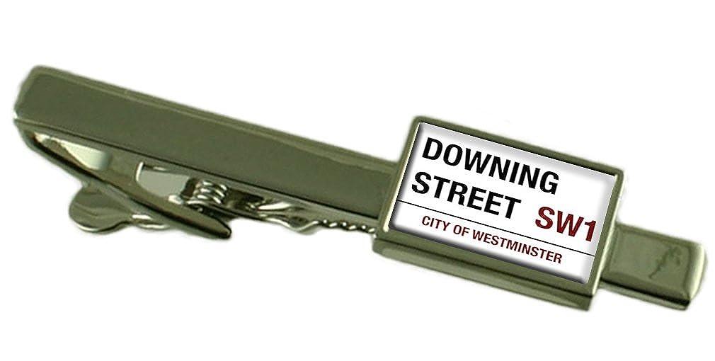 ダウニングストリート道路標識タイクリップ刻印されパーソナライズされたボックス   B071YXNLQG
