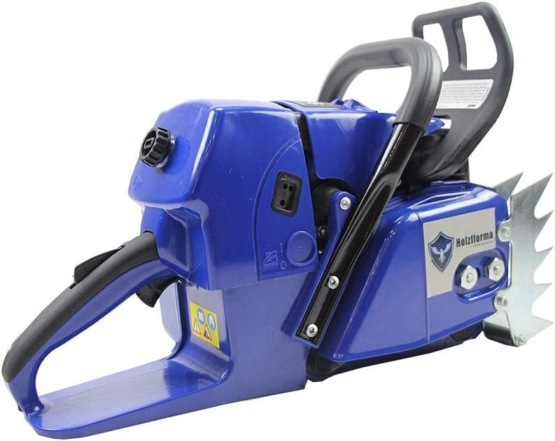 Famertec 92cc Holzfforma Blue Thunder G660 Gasoline Chain Saw Power Head Without Guide Bar and Chain All Parts are Compatible WT MS660 066 Chainsaw with Normal Handle Bar